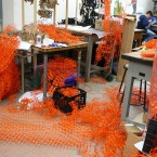 the process of construction took over the studio like a rapidly spreading virus