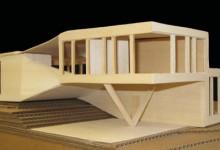 physical model: basswood, cardboard